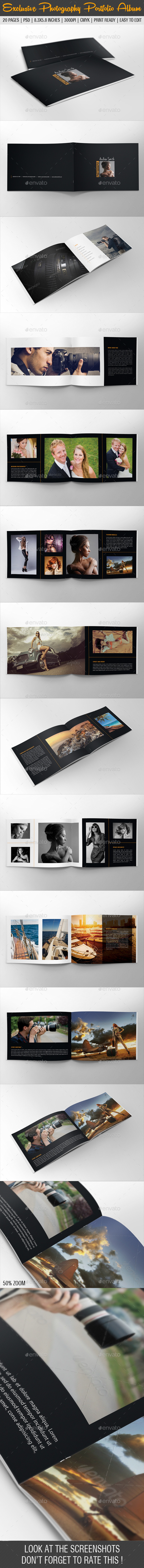 Exclusive Photography Portfolio Album 07 - Photo Albums Print Templates