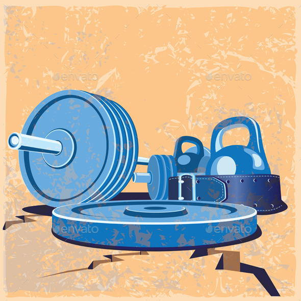 Old School Gym Set - Conceptual Vectors