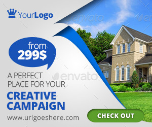 Multipurpose Real Estate Web Banners by Belegija | GraphicRiver