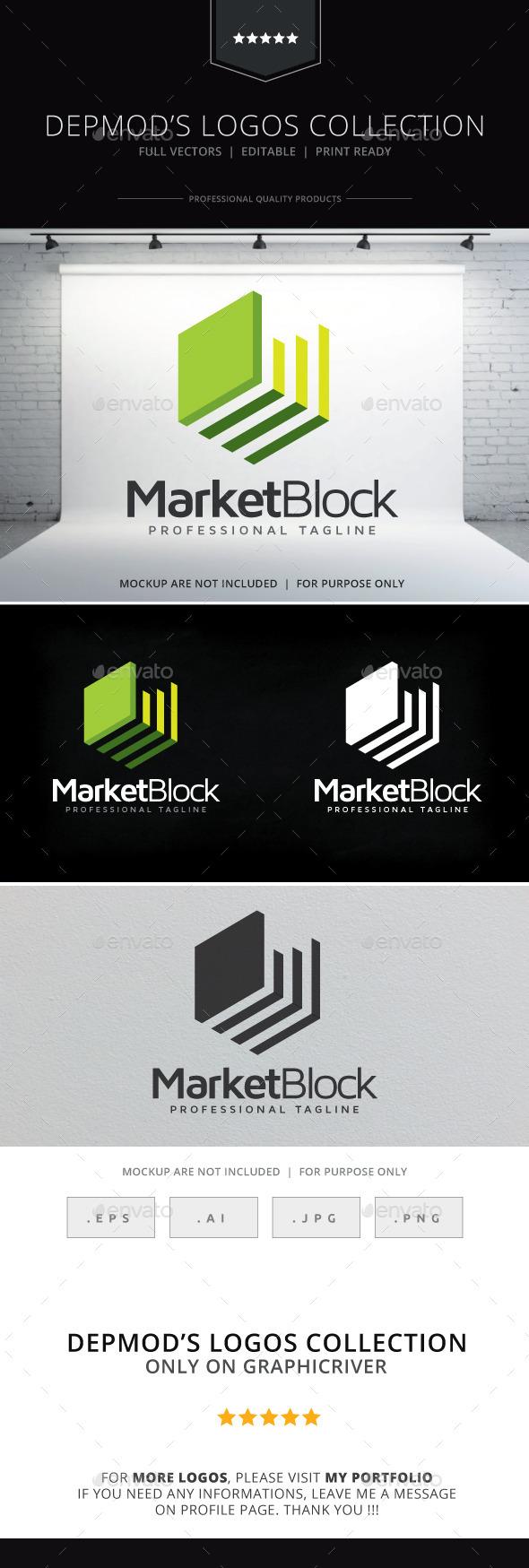 Market Block Logo - Symbols Logo Templates