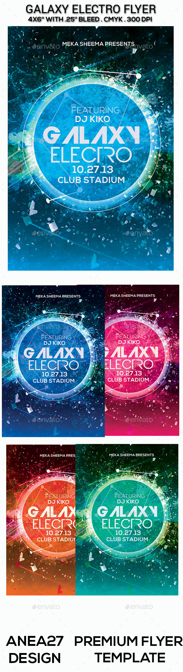 Galaxy Electro Flyer - Clubs & Parties Events
