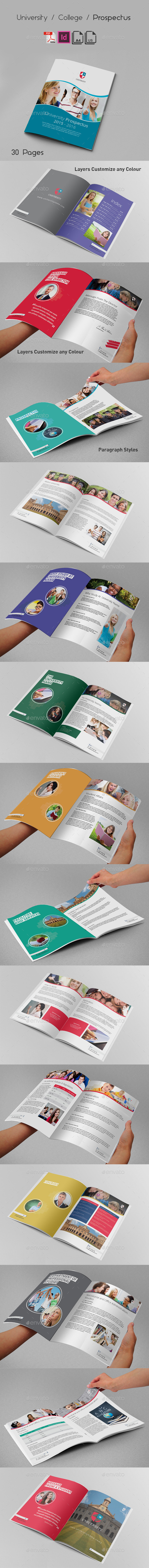 University College Prospectus - Brochures Print Templates
