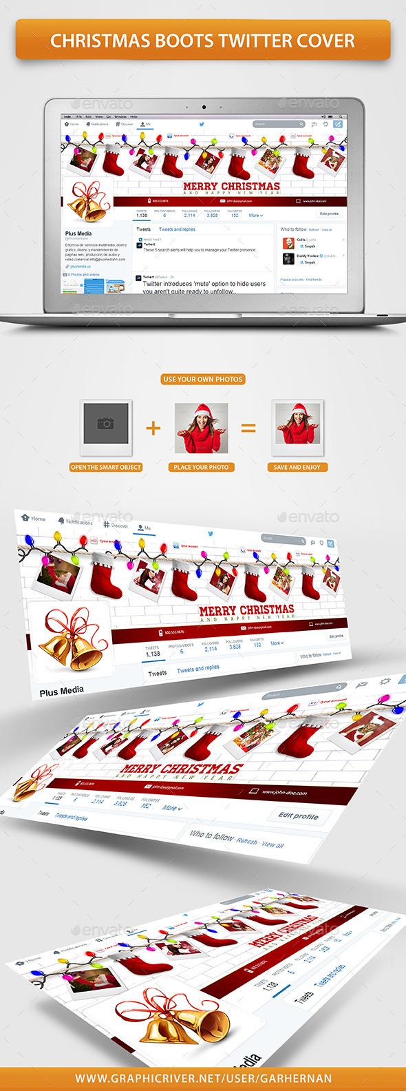Christmas Boots Twitter Cover - Twitter Social Media