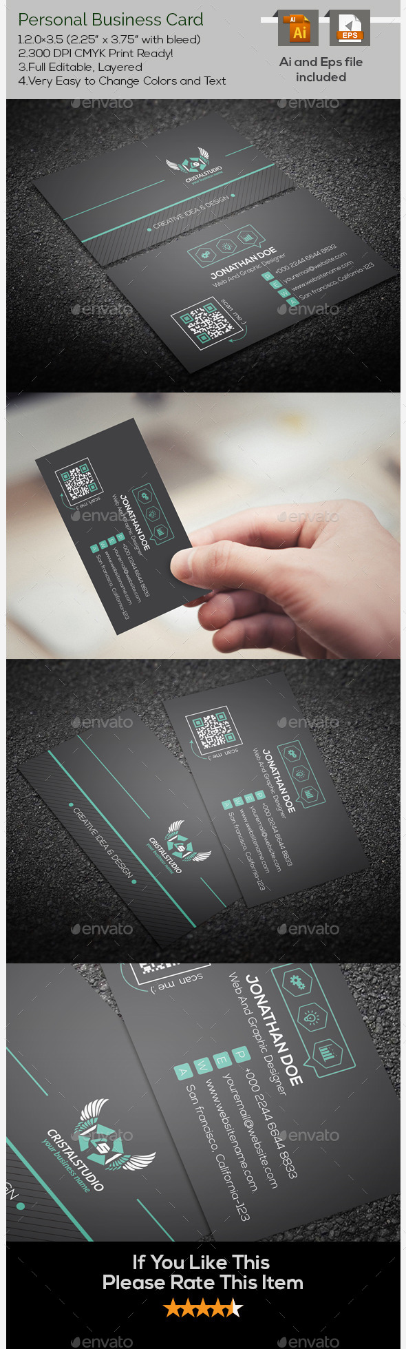 Creative Personal Business Card - Creative Business Cards