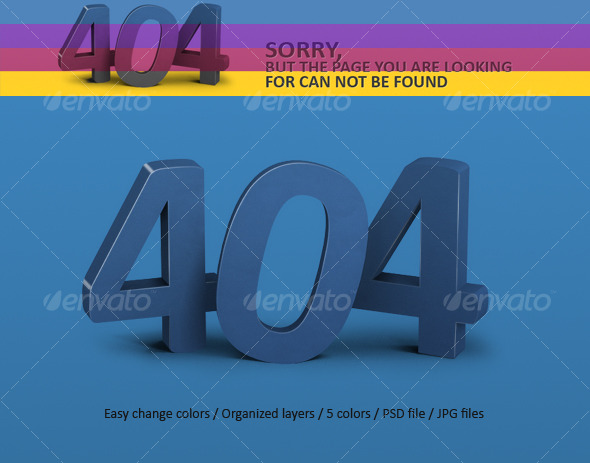 Error Page 404  - Miscellaneous Web Elements