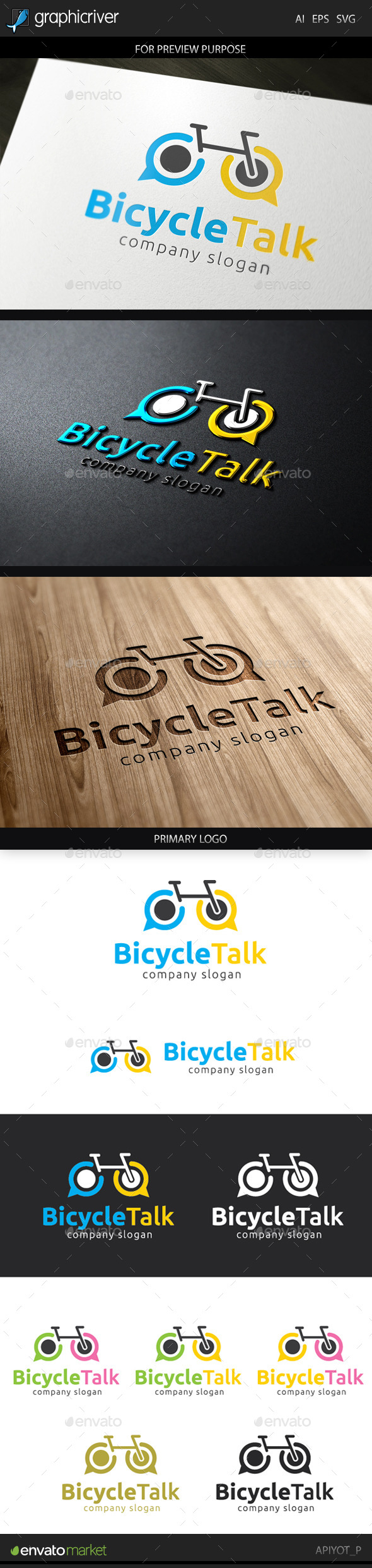 Bicycle Talk Logo - Objects Logo Templates