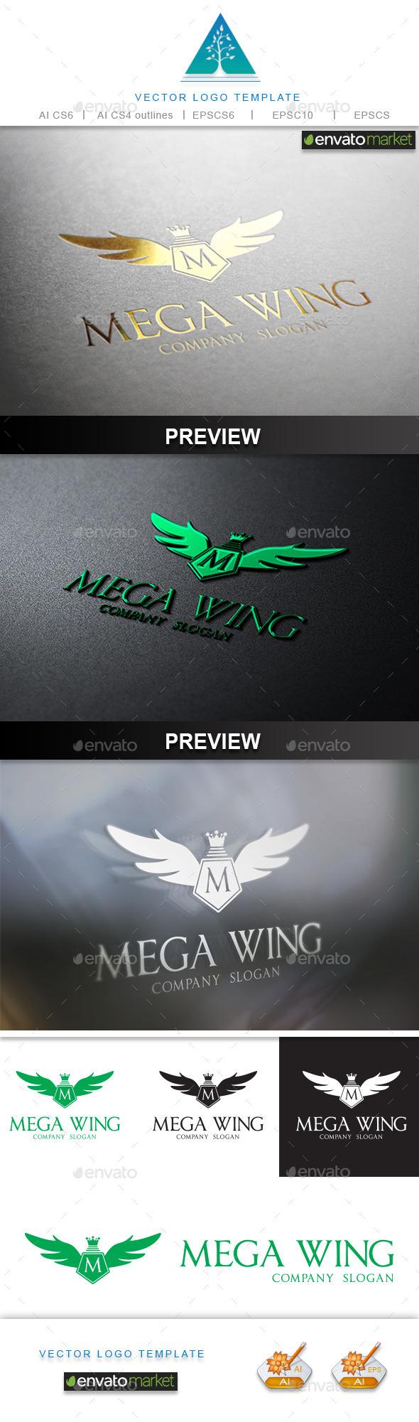 Mega Wing Logo - Crests Logo Templates