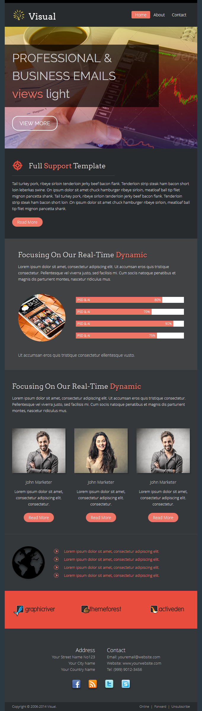 Visual - Responsive Email Template + Builder by digith | ThemeForest
