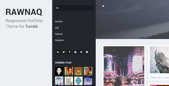 Rawnaq – Responsive Portfolio Theme For Tumblr