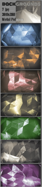 3d Metal Polygon - 3D Backgrounds
