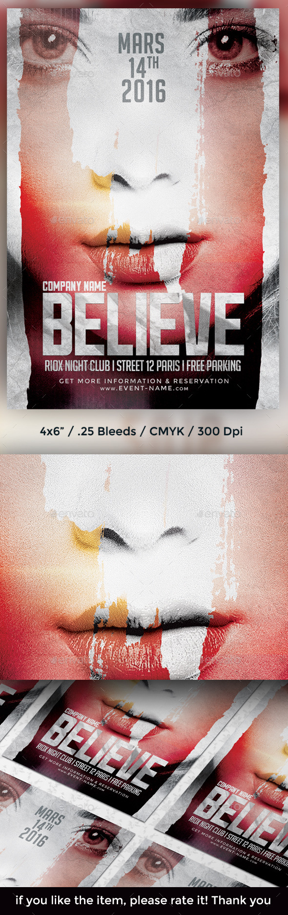 Believe Flyer Template - Clubs & Parties Events