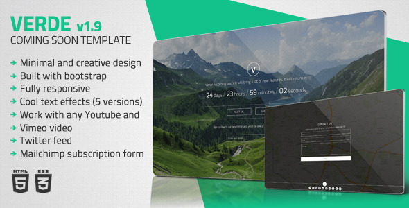 Verde – Minimal Coming Soon Template