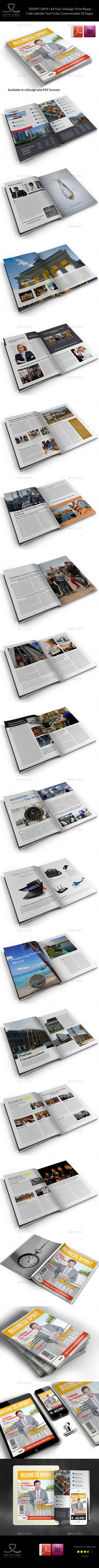 Business Spirit Newsletter Magazine - 32 Pages V.2 - Magazines Print Templates