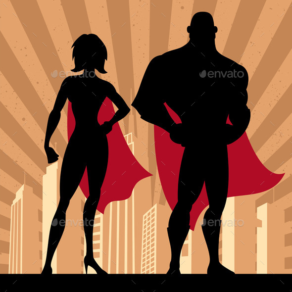 Superhero Couple 4 - People Characters