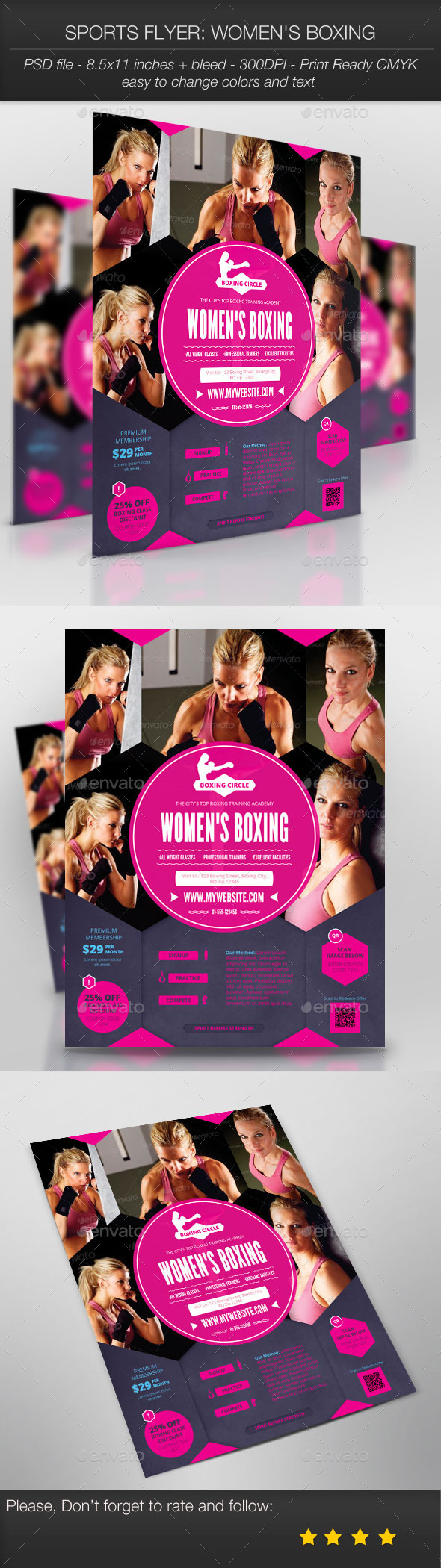 Sports Flyer: Women's Boxing - Sports Events