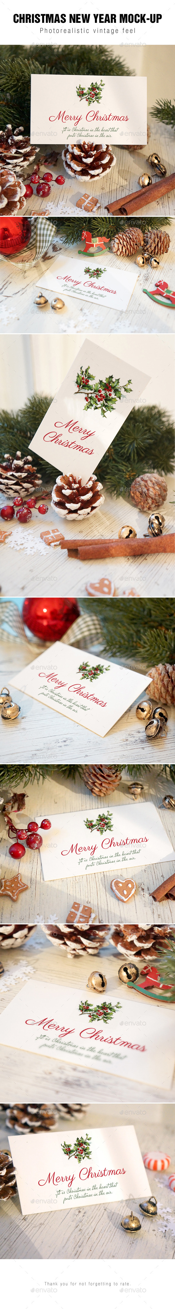 Christmas Card Mockup v2 - Stationery Print