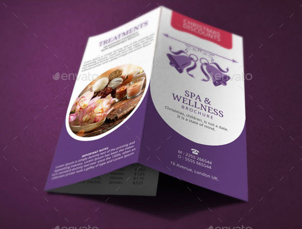 Spa Brochure | Spa Brochure Template Christmas Deals By Blogankids Graphicriver