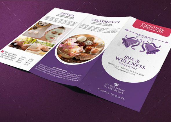Spa Brochure Template Christmas Deals By BloganKids GraphicRiver - Spa brochure templates
