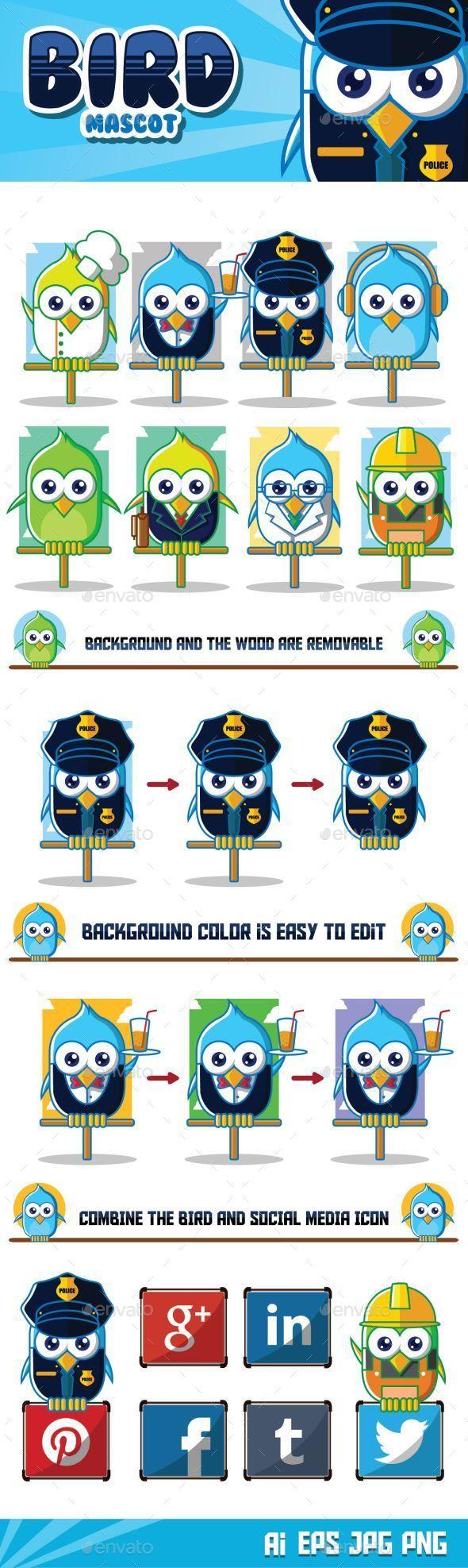 Bird Mascot Character - Animals Characters