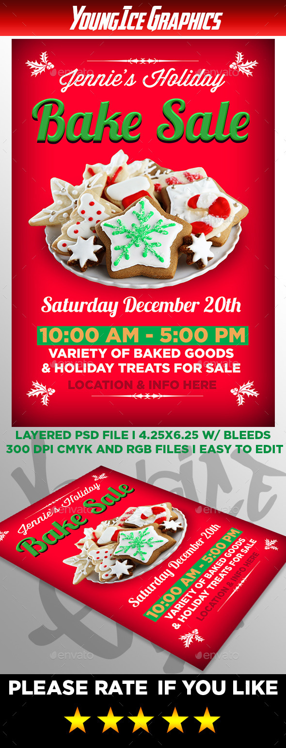 Holiday Bake Sale Flyer - Events Flyers