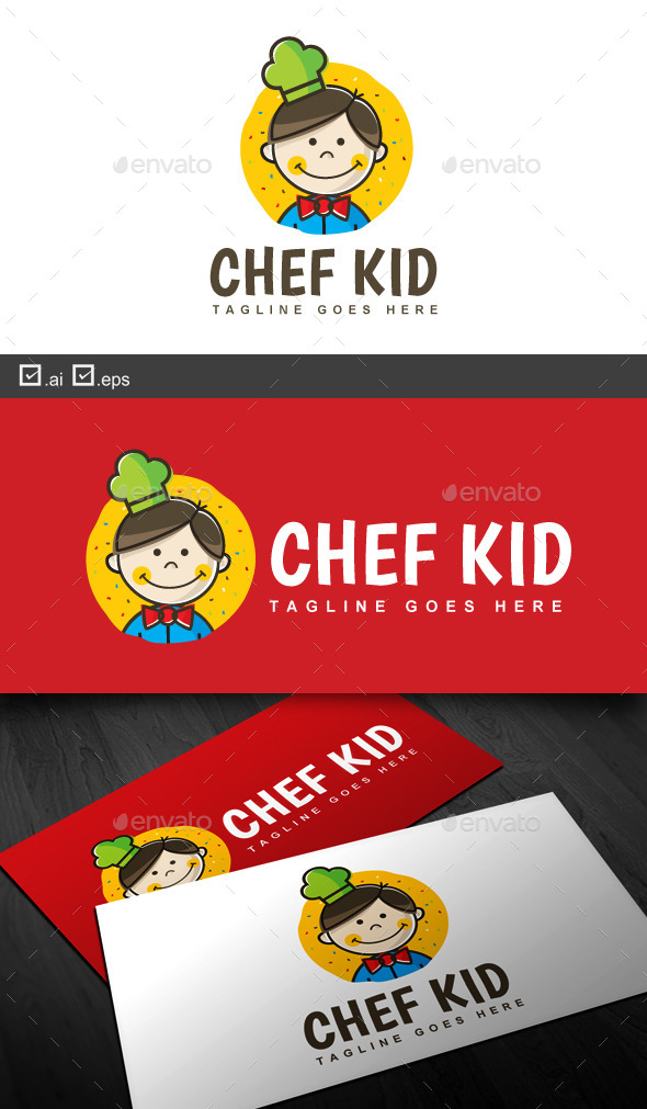 Chef Kid - Food Logo Templates