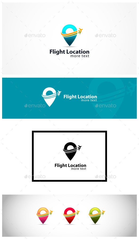 Air Travel - Symbols Logo Templates