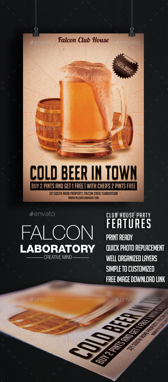 Cold Beer Flyer - Events Flyers