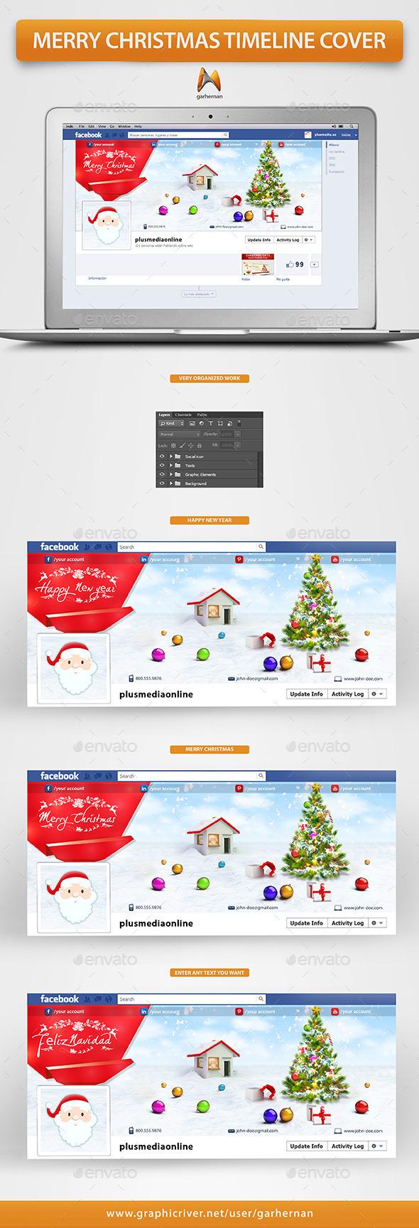 Merry Christmas Facebook Timeline Cover - Facebook Timeline Covers Social Media