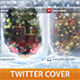 Christmas Windows Twitter Profile Cover - GraphicRiver Item for Sale