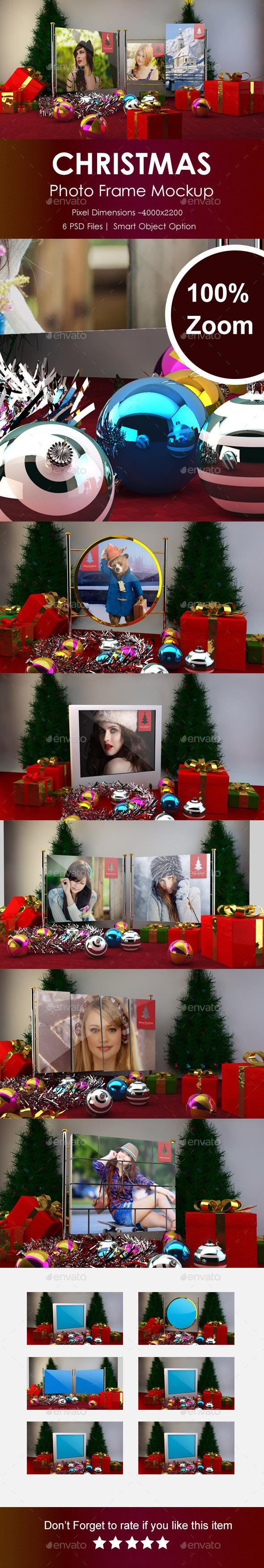Christmas Photo Frame Mockup  - Miscellaneous Displays