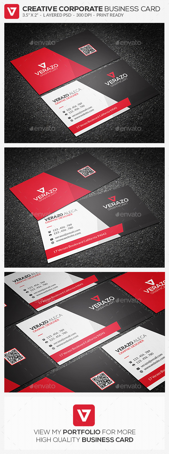 Creative & Sleek Corporate Business Card 67 - Corporate Business Cards