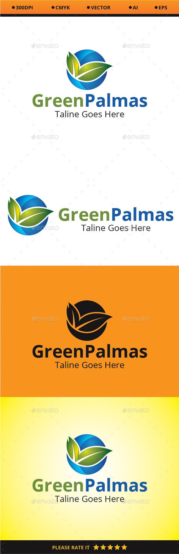 Green Palmas - Nature Logo Templates