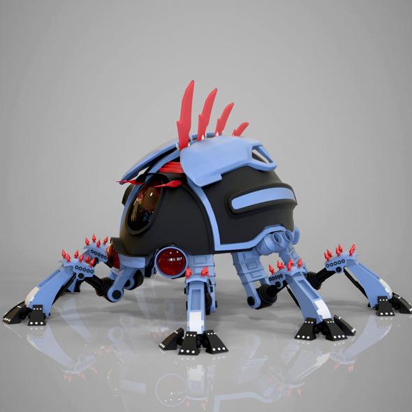 robotic beetle - 3DOcean Item for Sale