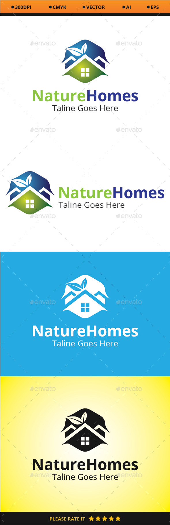 Nature Homes - Nature Logo Templates