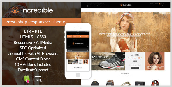 Incredible – Prestashop Responsive Theme