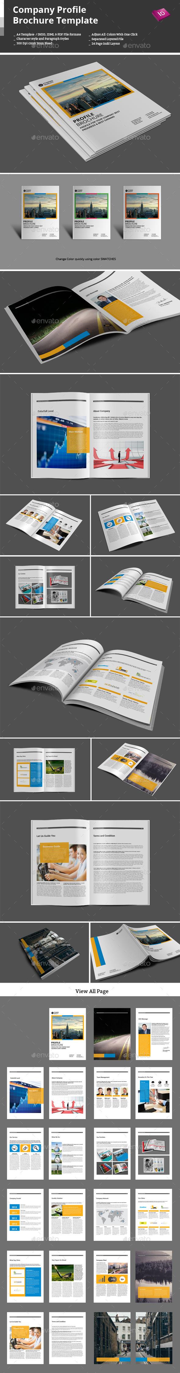 Company Profile Brochure Template - Corporate Brochures