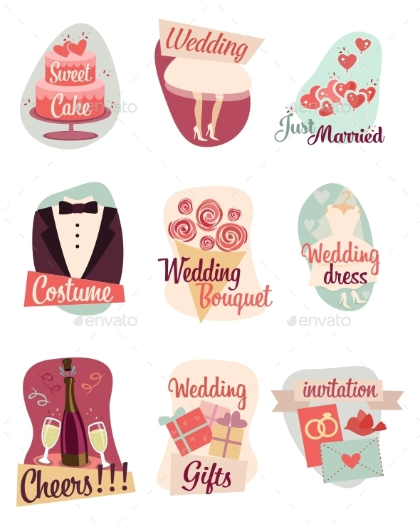 Wedding Flat Icons  - Miscellaneous Conceptual