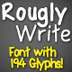 Roughly Write Set / Handwriting / 194 glyphs / ttf - GraphicRiver Item for Sale