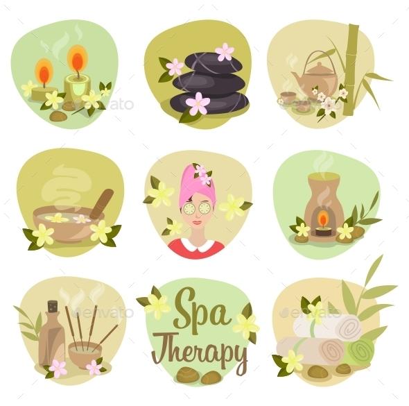 Spa Flat Icons  - Health/Medicine Conceptual