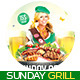 Sunday Grill Flyer - GraphicRiver Item for Sale