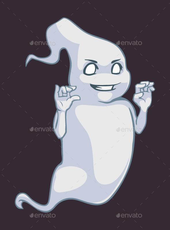 Cartoon Ghost - Monsters Characters