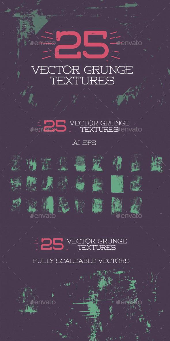 25 Vector Grunge Textures - Industrial / Grunge Textures
