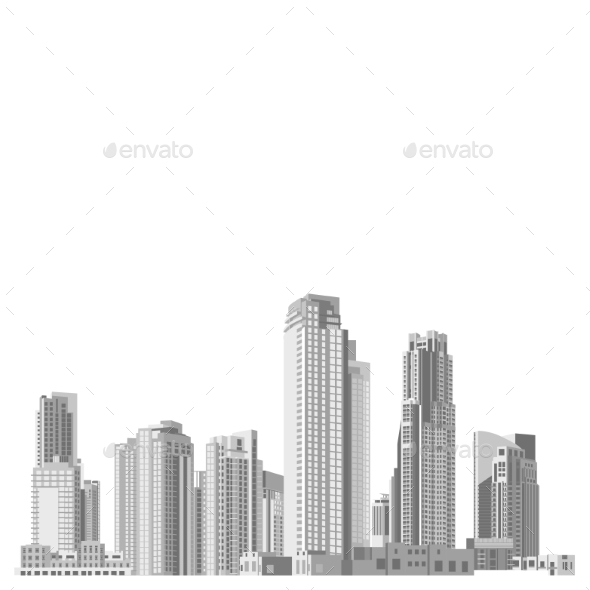 Set of Skyscrapers with Diverse Architectur - Buildings Objects