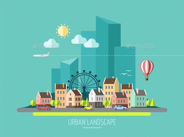 City Landscape. - Buildings Objects