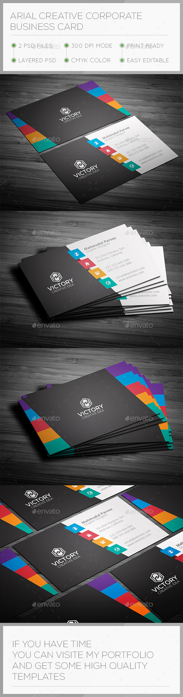 Arial Creative Business Card - Creative Business Cards