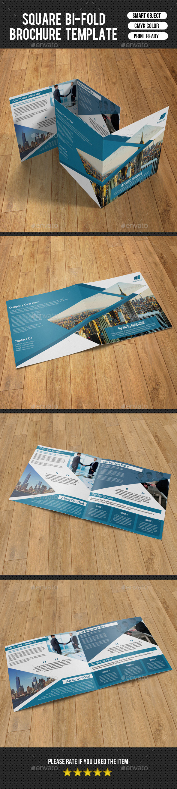 Square Bifold For Business-V04 - Corporate Brochures