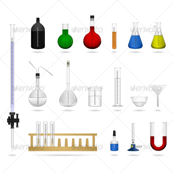 Science Chemical Lab Laboratory Equipment Vector - Man-made Objects Objects