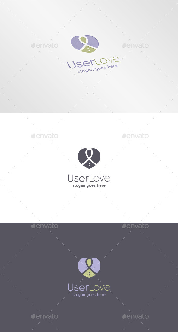 User Heart Logo - Abstract Logo Templates