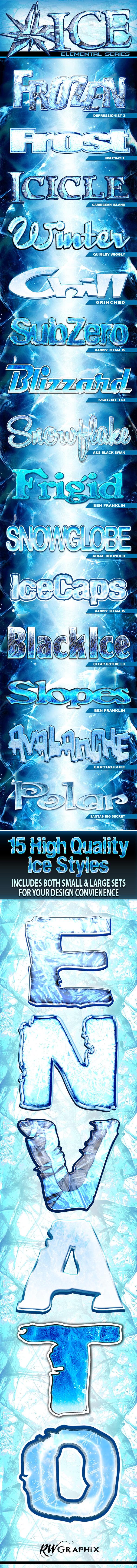Elemental ICE - Series 1 - Styles Photoshop