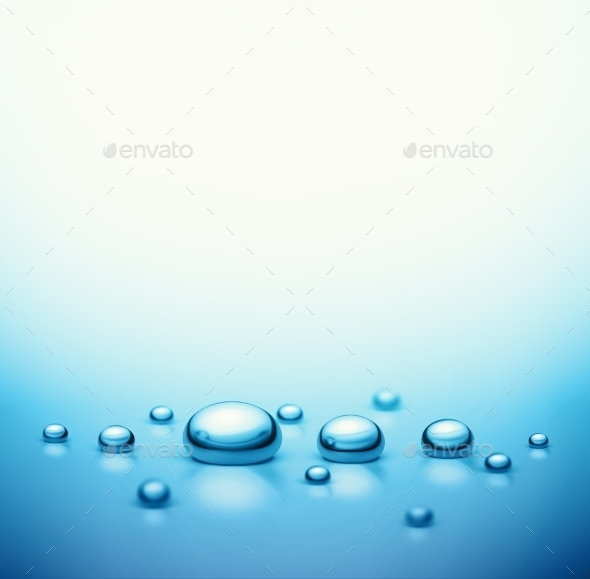 Drops Background - Nature Conceptual